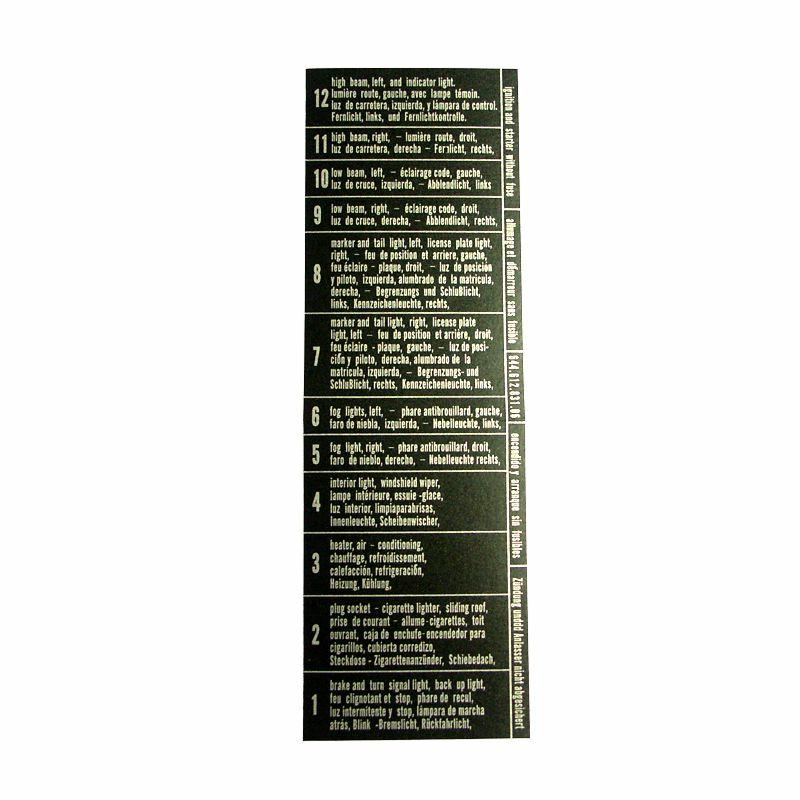 Beschriftung Sicherungskasten 356B T6 356C, 10,00 € - Sandelplan